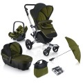 concord-conjunto de sillita de paseo neo travel set lime